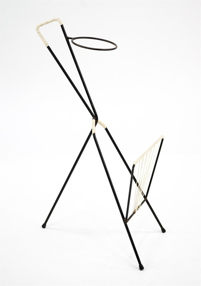 Mid-20th Century Magazine Rack Possibly Fredrick Weinberg For Sale