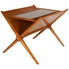 Magazine Side Table by T.H. Robsjohn-Gibbings, circa 1950, Wood
