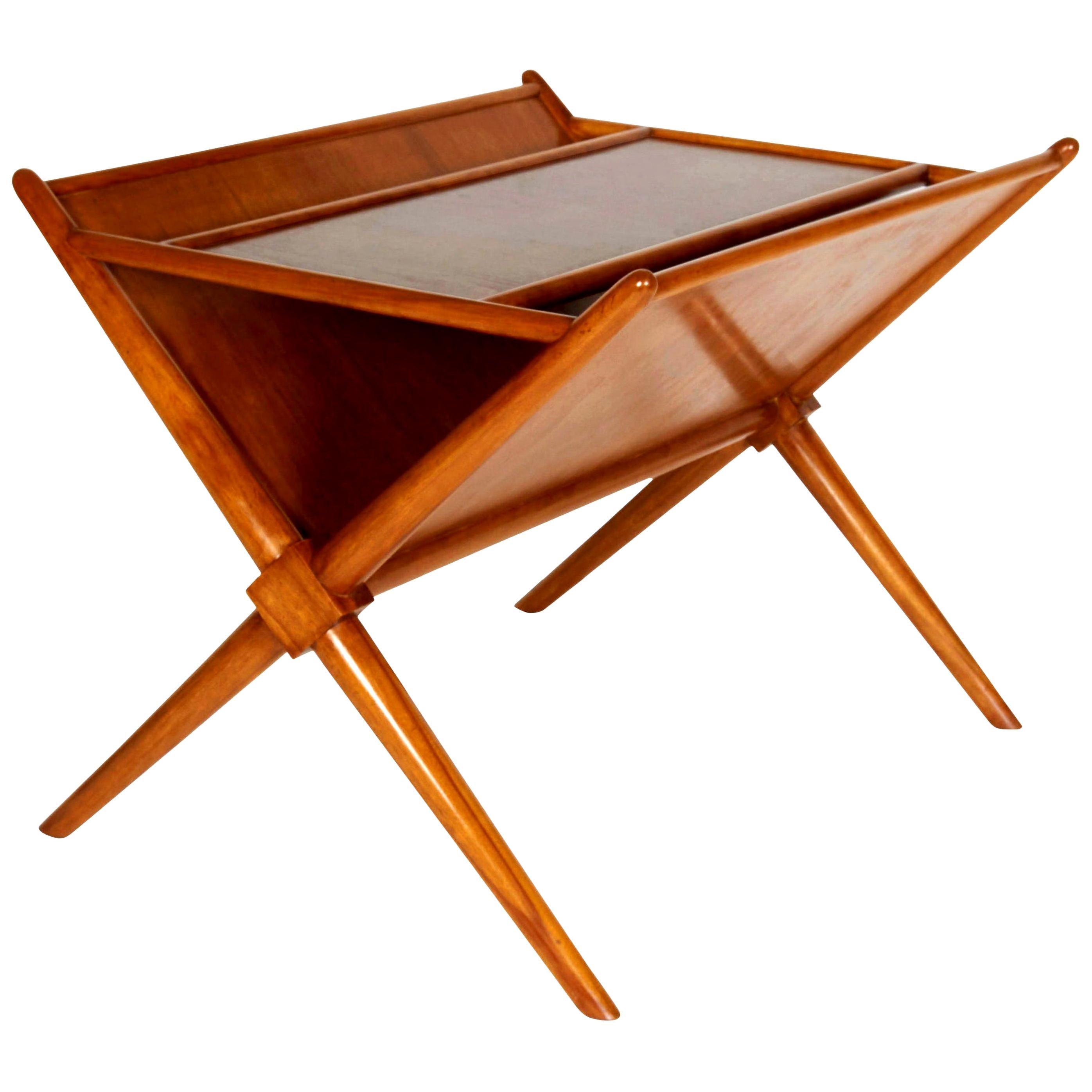 Magazine Side Table by T.H. Robsjohn-Gibbings, Mid-Century Modern Design