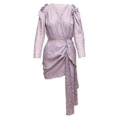 Magda Butrym Lilac Silk Long Sleeve Mini Dress