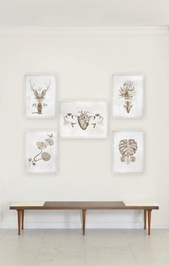 The Family Tree Complete Series. Limited edition prints intervened by the artist
