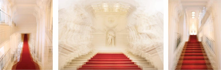 Magda Von Hanau Color Photograph - Albertina Palace Downstairs, Up Stairs & Belvedere Winter Palace Triptych