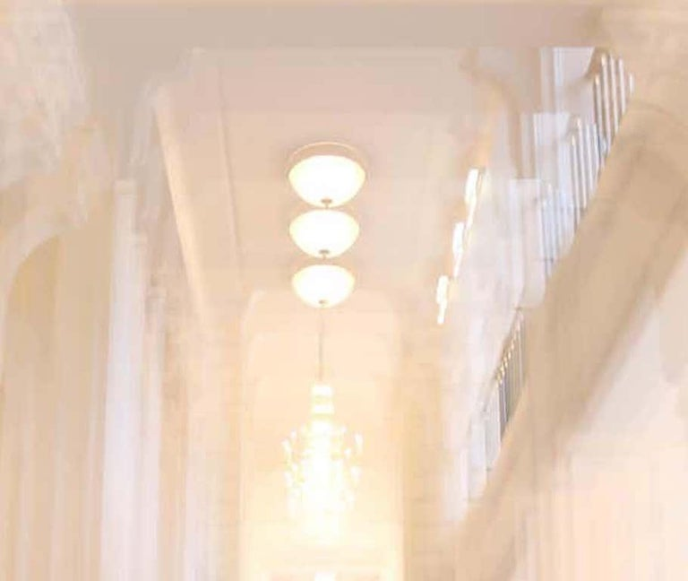 Albertina Palace Up Stairs, Small Archival Pigment Print - Photograph by Magda Von Hanau