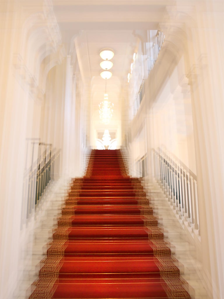 Magda Von Hanau Abstract Photograph - Albertina Palace Up Stairs, Small Archival Pigment Print