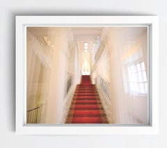 Albertina Palace Up Stairs (cropped), architectural color photography