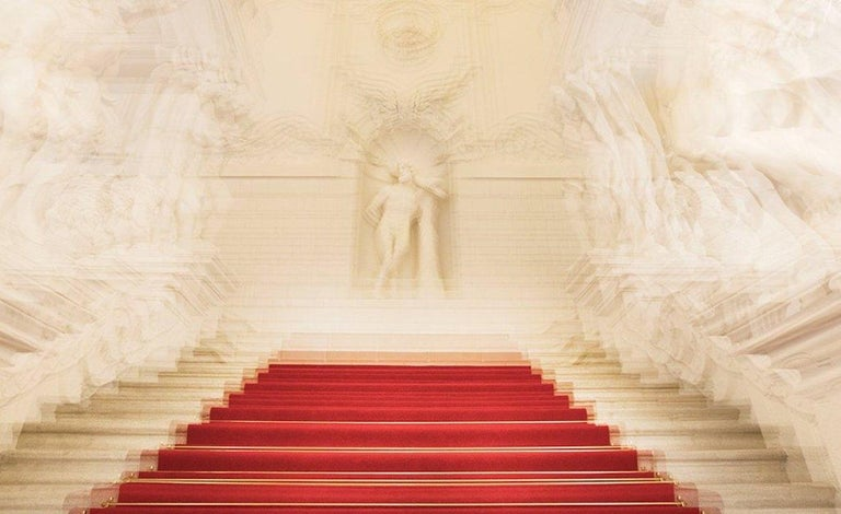 Albertina Palace Downstairs, Up Stairs & Belvedere Winter Palace Triptych - Contemporary Photograph by Magda Von Hanau