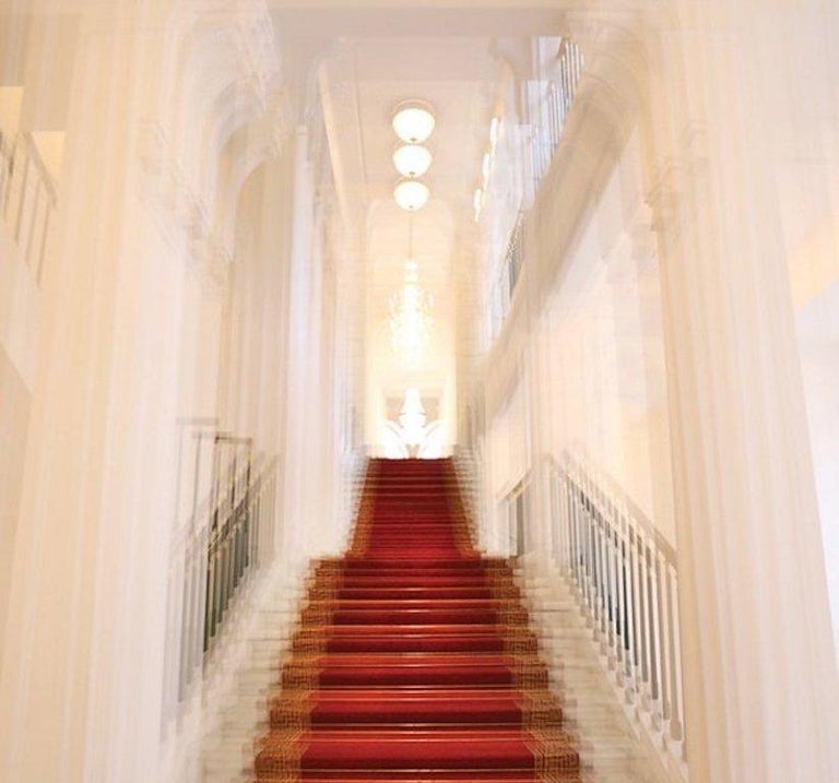 Albertina Palace Downstairs, Up Stairs & Belvedere Winter Palace Triptych - Beige Color Photograph by Magda Von Hanau