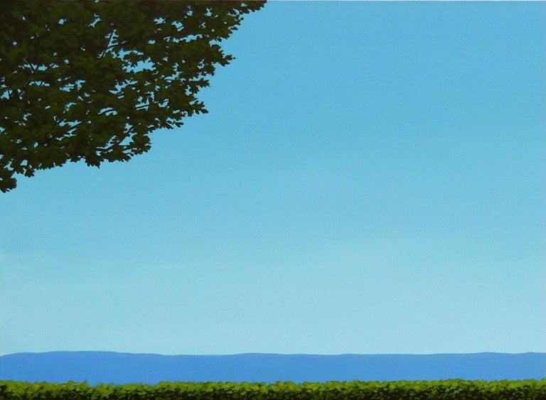 Lemon deck chair - landscape painting 1