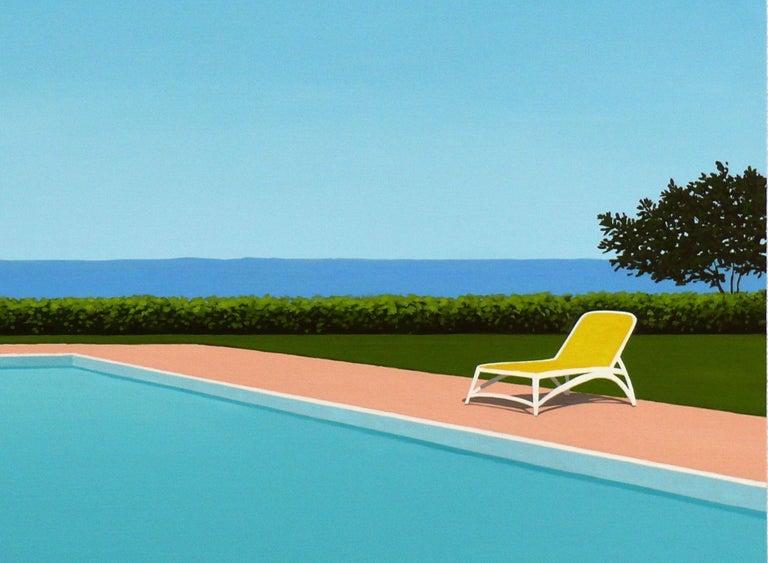 Lemon deck chair - landscape painting 2