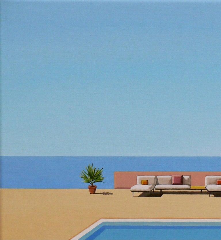 Ocean Breeze - landscape painting - Painting by Magdalena Laskowska