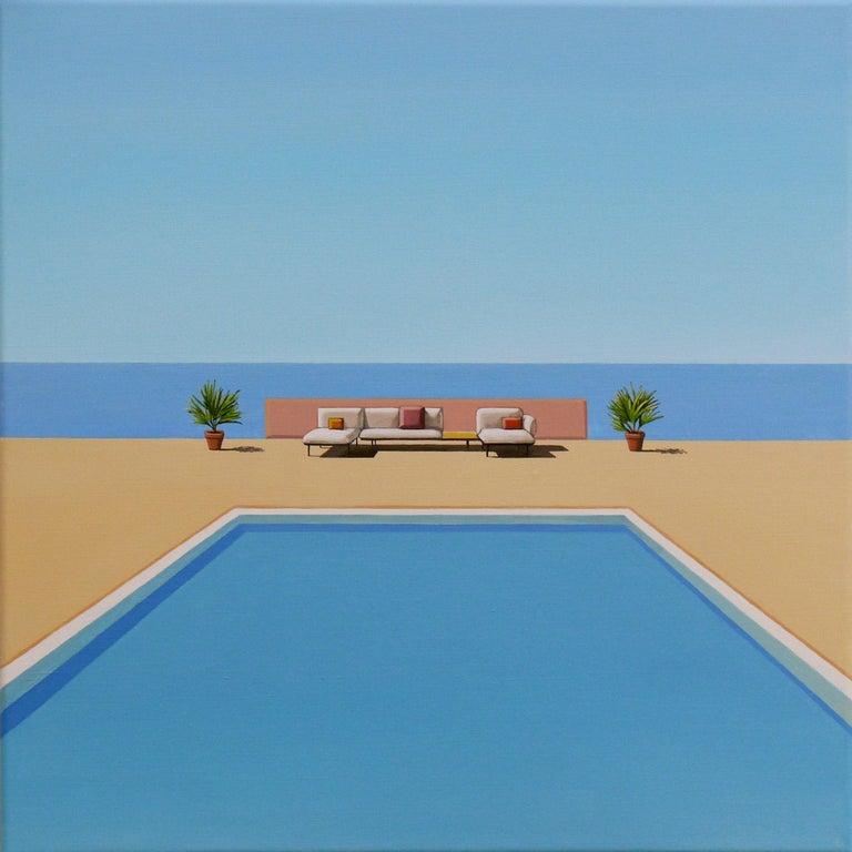 Magdalena Laskowska Figurative Painting - Ocean Breeze - landscape painting