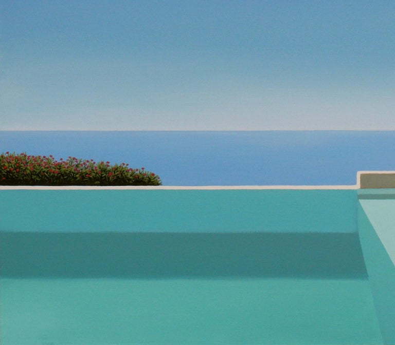 Paros - landscape painting - Contemporary Painting by Magdalena Laskowska