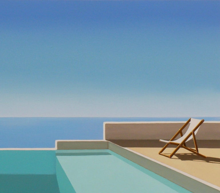 This beautiful acrylic on canvas painting by Magdalena is part of her pool series paintings. It is 60X92 cm, signed by the artist and comes with a certificate of authenticity from our gallery. Magdalena Laskowska, born in Warsaw, 1985. Studied