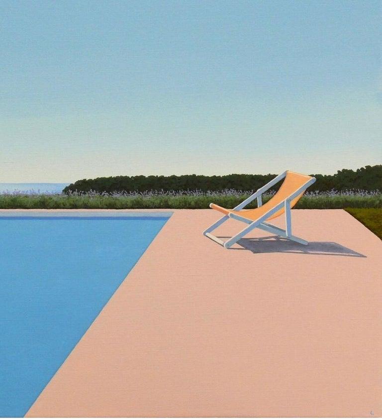Scent of Lavender - landscape painting - Blue Landscape Painting by Magdalena Laskowska