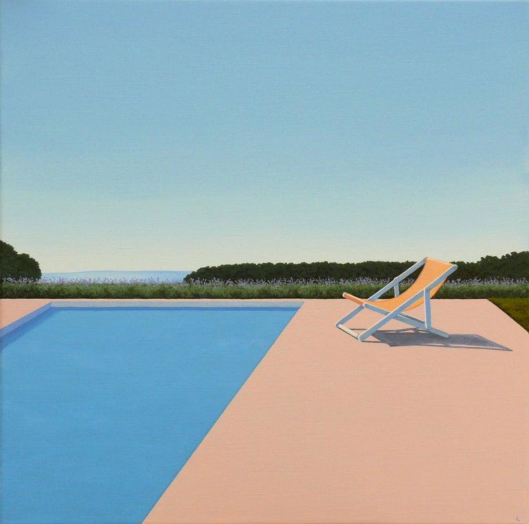 Magdalena Laskowska Landscape Painting - Scent of Lavender - landscape painting