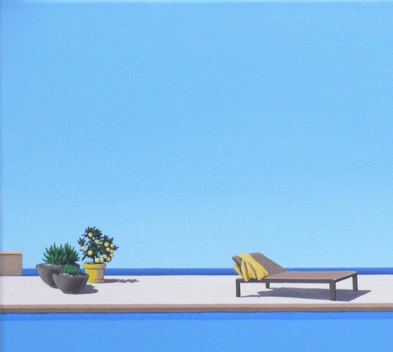 Scent of Lemons - landscape painting - Painting by Magdalena Laskowska