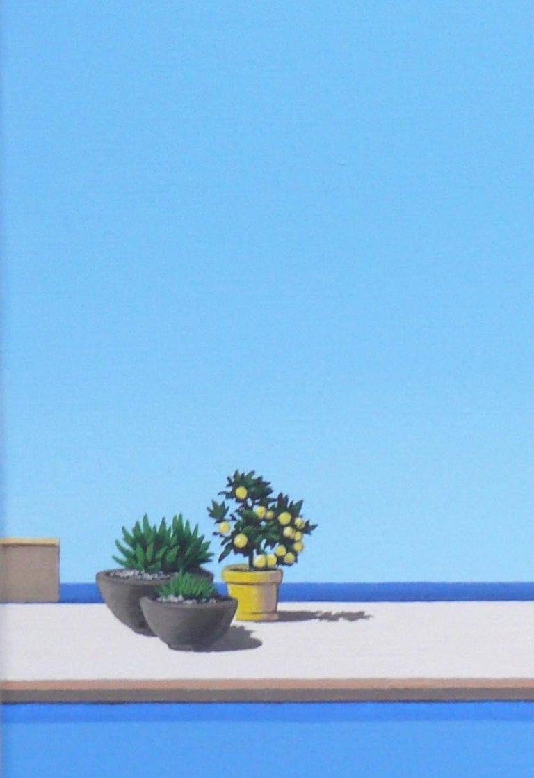 Scent of Lemons - landscape painting For Sale 1