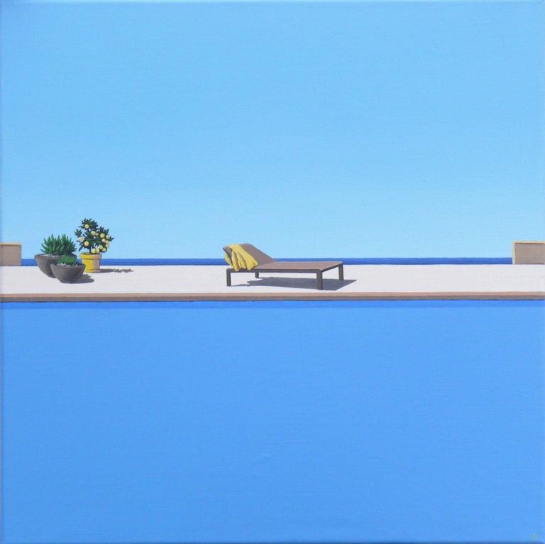Magdalena Laskowska Figurative Painting - Scent of Lemons - landscape painting