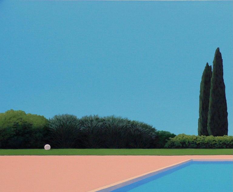 Serenity - landscape painting - Painting by Magdalena Laskowska