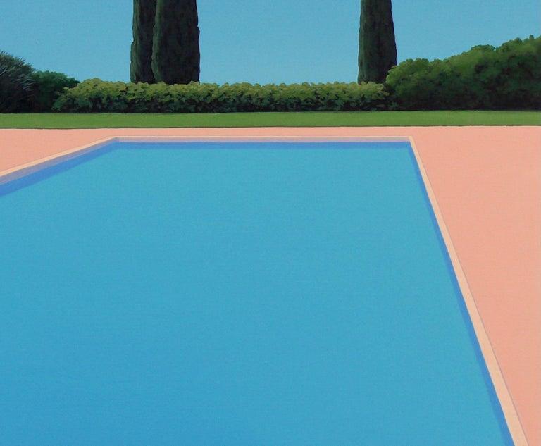 Serenity - landscape painting - Blue Landscape Painting by Magdalena Laskowska