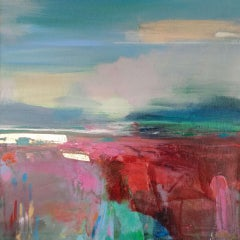 Exploring Every Path 3 Magdalena Morey Bright Landscape Painting, Affordable Art
