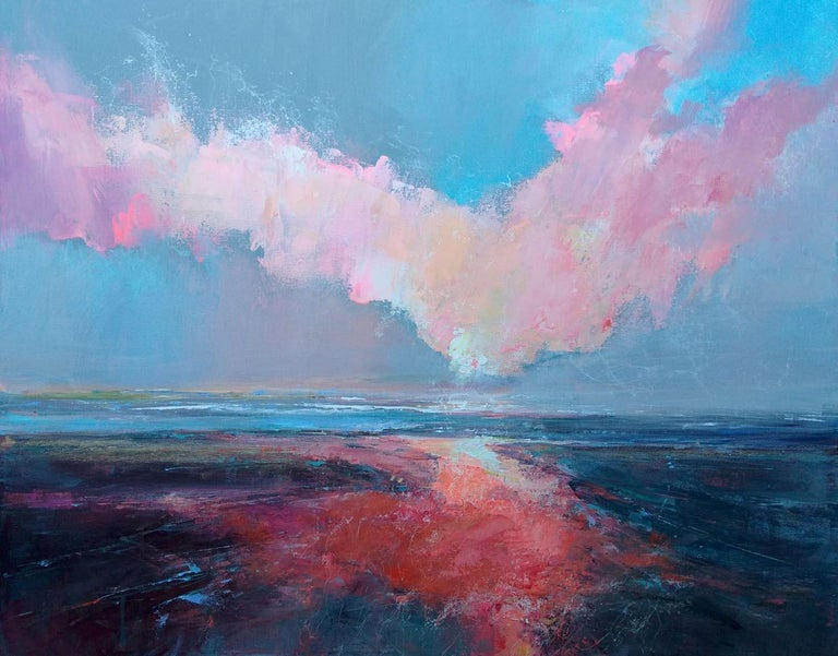 Fresh Perspectives 7, Blue and pink landscape painting 2