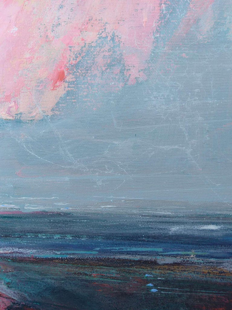 Fresh Perspectives 7, Blue and pink landscape painting 3