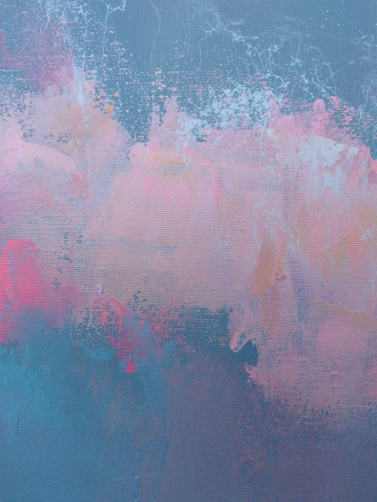 Fresh Perspectives 7, Blue and pink landscape painting 5