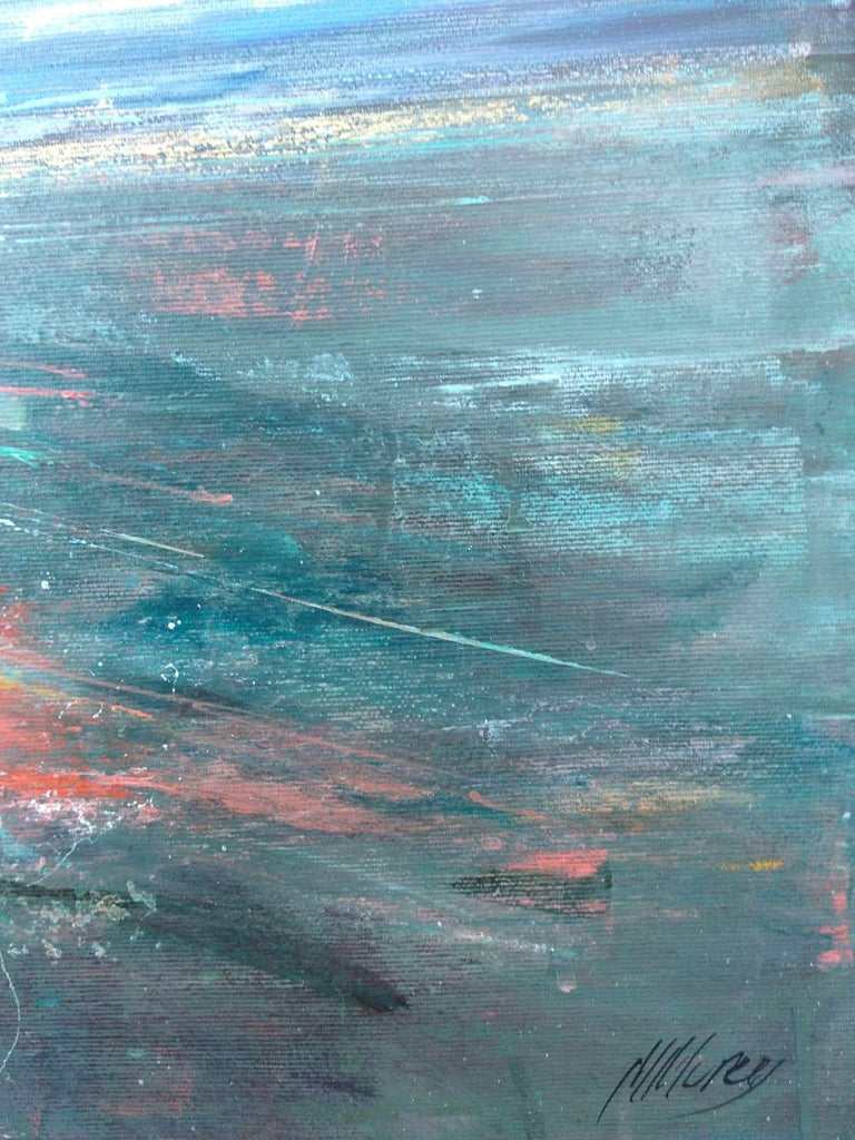 Fresh Perspectives 7, Blue and pink landscape painting 6