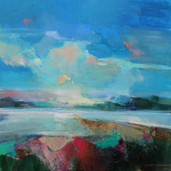 Along the Estuary 7 - abstract landscape seascape painting Contemporary Art