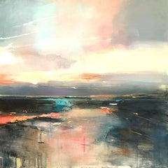 Atmospheric Refelctions -  abstract painting Contemporary Art 21st Century