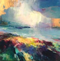 Coastal Light II - abstract landscape painting Contemporary Art 21st Century
