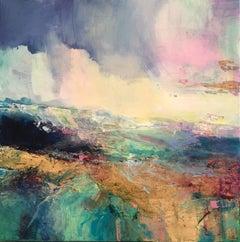 Coastal Walk I - abstract landscape painting Contemporary Art 21st Century