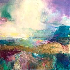 Coastal Walk II - abstract landscape painting Contemporary Art 21st C modern
