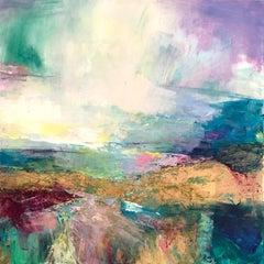 Coastal Walk II - abstract landscape painting Contemporary Art 21st Century