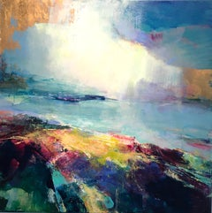 Costal Light II abstract landscape painting Contemporary Art 21st Century