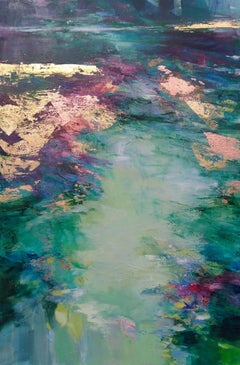 Deeply Immersed I - abstract landscape painting Contemporary Art 21st Century
