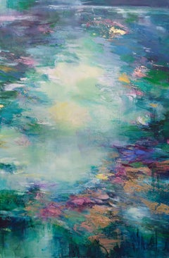Deeply Immersed II - abstract nature painting Contemporary pastel colourful