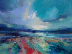 Drawn to the Light - abstract landscape painting Contemporary Art- 21st Century