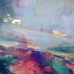 Dreams of a Thousand Islands II - abstract landscape painting Contemporary Art