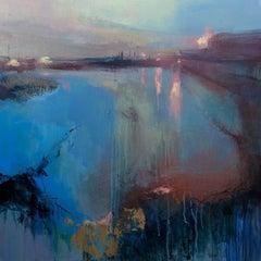 Evening Promenade 4, Original Abstract Art, Contemporary Landscape Painting