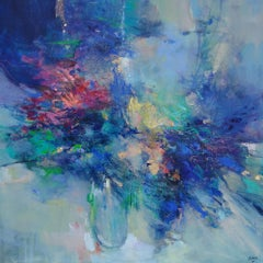 In Bloom - abstract landscape painting Contemporary Art- 21st Century