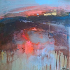 Interlude 2, Abstract Landscape, Contemporary Seascape Painting, Magdalena Morey