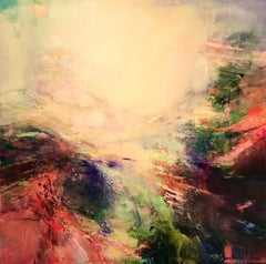 Island Dreaming III - abstract landscape painting Contemporary Modern Art