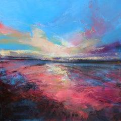 Joyful Evening II Abstract Landscape painting Contemporary Art 21st Century