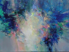Layers of Life - abstract landscape painting Contemporary Art- 21st Century