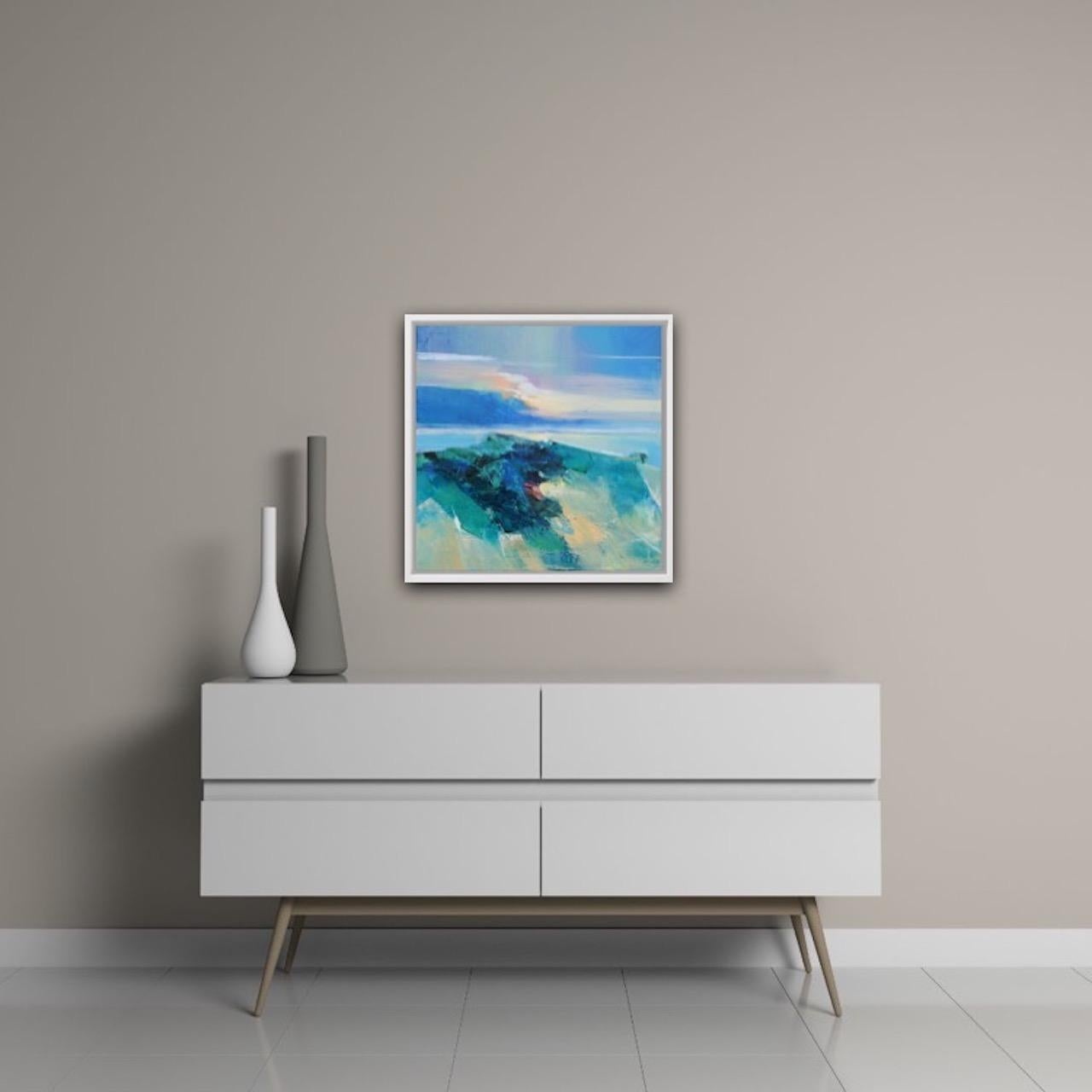 Magdalena Morey, Ocean Light 1, Original Seascape Painting, Abstract Painting