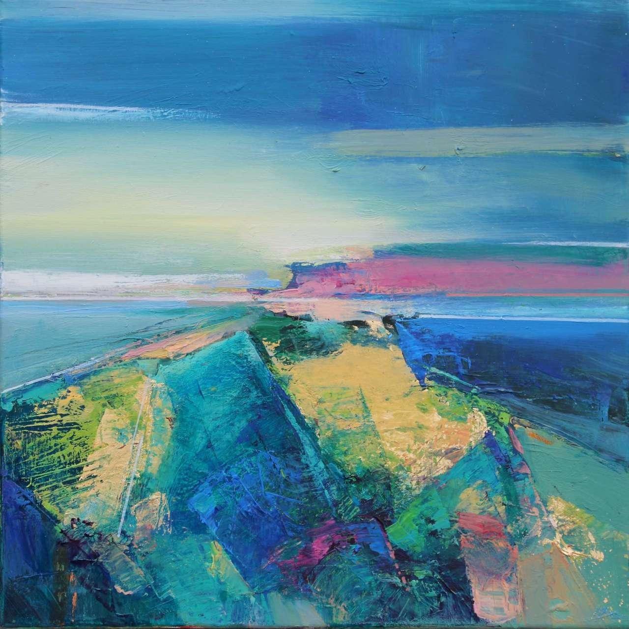 Magdalena Morey, Ocean Light 2, Original Contemporary Abstract Painting