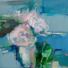 Magdalena Morey, Spring Blooms 1, Original Contemporary Floral Painting