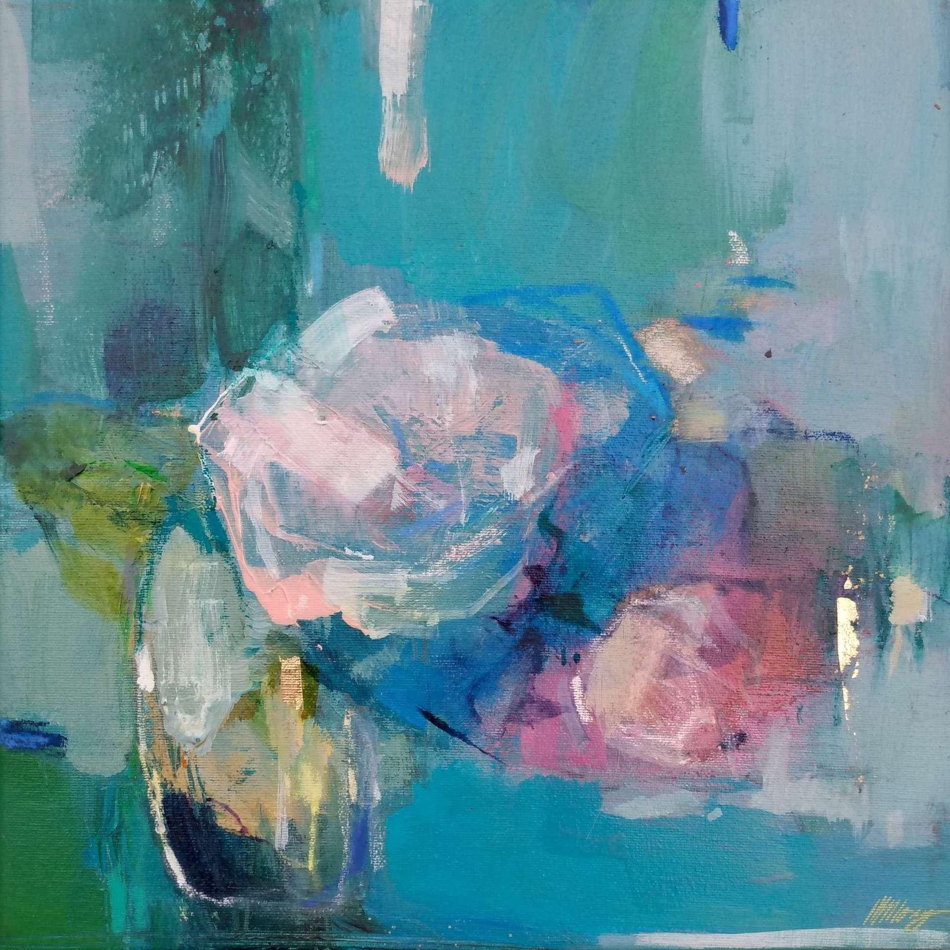 Magdalena Morey, Spring Blooms 2. Contemporary Still Life Painting, Affordable